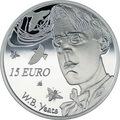 Ирландия 15 евро 2015.Уильям Батлер Йейтс.Арт.000100050850/60
