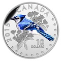 Канада 10 долларов 2015.Голубая Сойка - Красочные певчие птицы Канады.