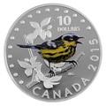 Канада 10 долларов 2015. Магнолиевый лесной певун серия Красочные певчие птицы Канады.