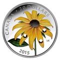 Канада 20 долларов 2015 Цветок Черноглазая Сьюзен Капля Дождя (Canada 20C$ 2015 Black-Eyed Susan Flower Raindrop Swarovski Silver Proof).Арт.000532750830/60
