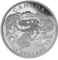 Канада 15 долларов 2015.Динозавр – Горгозавр серия Изучая Канаду.