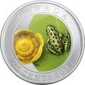 Канада 25 центов 2014.Леопардовая лягушка и кувшинка.Арт.000089748232