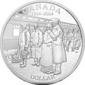 Канада 1 доллар 2014.100 лет начала первой мировой войны.Арт.000179646276