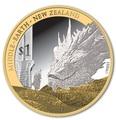 Новая Зеландия 1 доллар 2014.Хоббит: Битва пяти воинств.Дракон Смауг и Хоббит Бильбо.