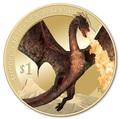 Новая Зеландия 1 доллар 2014.Хоббит: Битва пяти воинств.Дракон Смауг.(Блистер).