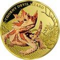 Ниуэ 100 долларов 2015 Ящерица Колючий Дьявол Замечательные Рептилии (Niue $100 2015 Thorny Devil Lizard Remarkable Reptiles 1oz Gold Proof Coin).Арт.85