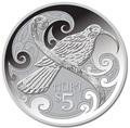 Новая Зеландия 5 долларов 2015.Птица Гуйя.Арт.000100050838/60