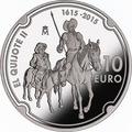 Испания 10 евро 2015.Дон Кихот – 400 лет.Арт.60