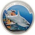 Палау 5 долларов 2008.Акула серая рифовая (Grey reef shark) – Защита морской жизни.Арт.60