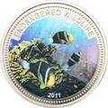 Палау 1 доллар 2011.Рыба Клоун (Anemonefish) – Под угрозой исчезновения.Арт.0400280313/60