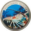 Палау 1 доллар 2008.Лангуст (Spiny Lobster) – Под угрозой исчезновения.Арт.60