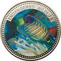 Палау 1 доллар 2008.Рыба Королевский морской ангел (Regal Angelfish) – Под угрозой исчезновения.Арт.60