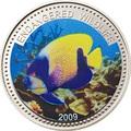 Палау 1 доллар 2009.Рыба Ангел навархус (Blue-girdled Angelfish) – Под угрозой исчезновения.Арт.60