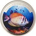 Палау 1 доллар 2009.Рыба Зебрасома (Sailfin Tang) – Под угрозой исчезновения.Арт.60