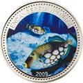 Палау 1 доллар 2009.Рыба Спинорог клоун (Clown Triggerfish) – Под угрозой исчезновения.Арт.60