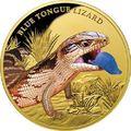 Ниуэ 100 долларов 2016 Ящерица Синеязыкий Cцинк Замечательные Рептилии (Niue $100 2016 Blue Tongue Lizard Remarkable Reptiles 1oz Gold Proof Coin).Арт.85