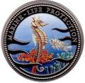 Палау 1 доллар 1995.Морской конек – Защита морской жизни.Арт.000040041816/60