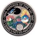 Палау 1 доллар 1995.Морская фауна.50 лет ООН – Защита морской жизни.Арт.000040041815/60