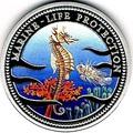 Палау 5 долларов 1995.Морской конек – Защита морской жизни.Арт.000114738287/60