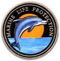 Палау 1 доллар 1998.Дельфин – Защита морской жизни.Арт.000040047748/60