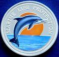 Палау 5 долларов 1998.Дельфин – Защита морской жизни.Арт.000135041842/60