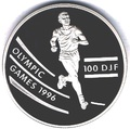 Джибути 100 франков 1994.Бег - Олимпийские игры 1996.Арт.000048912446/60
