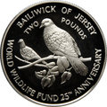 Джерси 2 фунта 1987.Голуби.Всемирный фонд дикой природы.Арт.000071433597/60