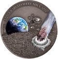 Ниуэ 1 доллар 2015.Лунный метеорит NWA 5000.Арт.60