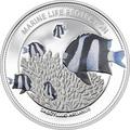 Палау 5 долларов 2015.Рыба Дасцилл зебра белохвостый – Защита морской жизни.Арт.60