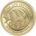 Палау 1 долларов 2015.Рыба Дасцилл зебра белохвостый – Защита морской жизни.Арт.60