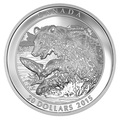 Канада 20 долларов 2015.Медведь Гризли ловит рыбу.Арт.60