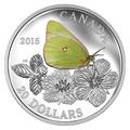 Канада 20 долларов 2015.Бабочка – Гигантская желтушка серия Бабочки Канады.Арт.60