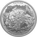 Канада 200 долларов 2015 Канадские Скалистые Горы серия Пейзажи Севера (Canada 200$ 2015 Canada's Rugged Mountains 2oz Silver Coin).Арт.60