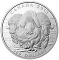 Канада 100 долларов 2015.Овцебык.Арт.60