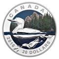 Канада 20 долларов 2016.Гагара – Геометрия в искусстве.Арт.60