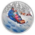 Канада 10 долларов 2016.Катание на санках – Зимние забавы.Арт.60