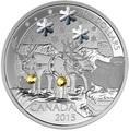 Канада 20 долларов 2015.Олени - Зима.Арт.60