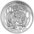 Канада 20 долларов 2015.Медведи Гризли - близость.Арт.60