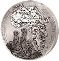 Руанда 50 франков 2016.Сурикаты – Карта Африки.Арт.60
