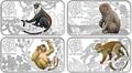 Острова Кука 4х1 доллар 2016.Набор из четырех монет.Лунный календарь – Год Обезьяны.Арт.60