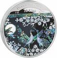 Папуа Новая Гвинея 10 кина 2014.Драгоценная жемчужина – Журавли (перламутр).Арт.60