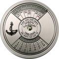 Конго 5 франков 2004.Морской календарь на 50 лет.Арт.000098110828/60