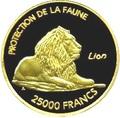 Мали 25000 франков 2007.Лев – Защита животных.Арт.001500040360/60