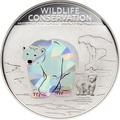 Острова Кука 1 доллар 2013.Полярный медведь (призма).Арт.000070442566/60