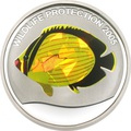 Конго 10 франков 2005.Рыба-бабочка(Chaetodon austriacus) (призма).Арт.60