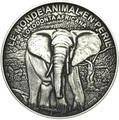 Берег Слоновой Кости 1000 франков 2016.Саванный слон.Арт.60