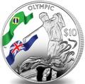 Британские Виргинские Острова 10 долларов 2016.Гольф – Олимпийские Игры в Бразилии.Арт.60