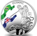 Британские Виргинские Острова 1 доллар 2016.Гольф – Олимпийские Игры в Бразилии.Арт.60