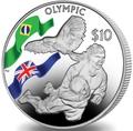 Британские Виргинские Острова 10 долларов 2016.Регби – Олимпийский Игры в Бразилии.Арт.60
