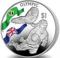 Британские Виргинские Острова 1 доллар 2016.Регби – Олимпийские Игры в Бразилии.Арт.60